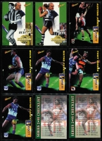 Lot 1054 [3 of 7]:Sport: AFL 1995-1998: 1998 Select All Australia Team (21), Stand Up Stickers - Set of 72, 1995 Gamebreaker (64), 1995 Draft Pick (22) 1995 Lifetime Best (18), 3D cards (15). (210+)