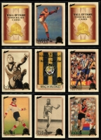 Lot 1056 [3 of 8]:Sport: AFL 1996-2012: Select Hall of Fame Gold Foil Embellished and Embossed Cards - 1996 common (110) Team of the Century (23) Legends (12), 2003 HOF (49), 2007 HOF (34), 2012 HOF (32 & 34). Plus HOF Legends (15) incl Ablett, Dunstall, Daicos, Skilton, Stewart, Murray, Matthews, Bartlett, Nicholls, Dyer, Barrassi & Hudson. (290+)