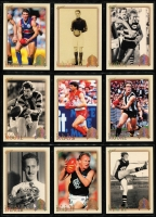 Lot 1056 [4 of 8]:Sport: AFL 1996-2012: Select Hall of Fame Gold Foil Embellished and Embossed Cards - 1996 common (110) Team of the Century (23) Legends (12), 2003 HOF (49), 2007 HOF (34), 2012 HOF (32 & 34). Plus HOF Legends (15) incl Ablett, Dunstall, Daicos, Skilton, Stewart, Murray, Matthews, Bartlett, Nicholls, Dyer, Barrassi & Hudson. (290+)