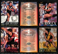 Lot 1055 [6 of 6]:Sport: AFL 1996: Select Players Collection - Full set of 250 Cards (All Australians 227-248 Omitted) & Best & Fairest - Set of 16. (240+)