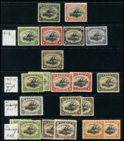 Lot 1447 [1 of 4]:Lakatois small mint collection, incl 1901-05 ½d to 1/-, 1907-10 ½d to 1/- with various wmks and perfs, 1911-15 ½d to 6d, 1930 Airs, 1931 Surcharges etc. Generally good condition with minor duplication. (50)