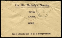 Lot 782 [2 of 2]:Unit Postal Station violet boxed 'UNIT POSTAL/24JUL1942/STATION E.L.C. 5' (NSW L of C Engineer Training Depot - ERD) on 2½d red KGVI on cover to Victoria. [Rated NS by Proud]