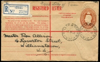 Lot 572 [3 of 5]:1914-50 Selection: used ex noted, with 1d Roo Post Card #P24 unused, 1d red Star Envelope #EP8 unused, 1½d green Star POSTAGE #ES55 for Vaccuum Oil. 1d green KGV Oval #ES64 x4 (Vaccuum Oil x1 & Clutterbuck x3), 4d orange KGV #PR6A, 5d KGVI Oval #PR28A, 1/0½d #RE36 unused. (10)