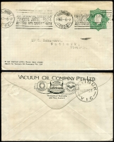 Lot 572 [4 of 5]:1914-50 Selection: used ex noted, with 1d Roo Post Card #P24 unused, 1d red Star Envelope #EP8 unused, 1½d green Star POSTAGE #ES55 for Vaccuum Oil. 1d green KGV Oval #ES64 x4 (Vaccuum Oil x1 & Clutterbuck x3), 4d orange KGV #PR6A, 5d KGVI Oval #PR28A, 1/0½d #RE36 unused. (10)