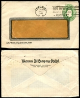 Lot 572 [5 of 5]:1914-50 Selection: used ex noted, with 1d Roo Post Card #P24 unused, 1d red Star Envelope #EP8 unused, 1½d green Star POSTAGE #ES55 for Vaccuum Oil. 1d green KGV Oval #ES64 x4 (Vaccuum Oil x1 & Clutterbuck x3), 4d orange KGV #PR6A, 5d KGVI Oval #PR28A, 1/0½d #RE36 unused. (10)