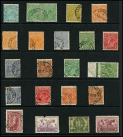 Lot 1143 [3 of 5]:KGV-Period Selection: on Hagners, mostly readable good strikes better Victoria items noted are Anderson R.S., Barry's Reef, Blowhard, Butcher's Ridge, Cosgrove, Hinnomunjie, Warrenbayne, Wood Wood, & Yerringberg. Also noticed Antigua Qld, Canning Weir WA, Werri Beach NSW, Whittakers Mill WA, Emungalan NT. (110+)