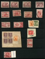 Lot 1143 [5 of 5]:KGV-Period Selection: on Hagners, mostly readable good strikes better Victoria items noted are Anderson R.S., Barry's Reef, Blowhard, Butcher's Ridge, Cosgrove, Hinnomunjie, Warrenbayne, Wood Wood, & Yerringberg. Also noticed Antigua Qld, Canning Weir WA, Werri Beach NSW, Whittakers Mill WA, Emungalan NT. (110+)