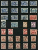 Lot 1143 [1 of 5]:KGV-Period Selection: on Hagners, mostly readable good strikes better Victoria items noted are Anderson R.S., Barry's Reef, Blowhard, Butcher's Ridge, Cosgrove, Hinnomunjie, Warrenbayne, Wood Wood, & Yerringberg. Also noticed Antigua Qld, Canning Weir WA, Werri Beach NSW, Whittakers Mill WA, Emungalan NT. (110+)