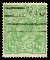 Lot 160:½d Green Line Perf BW #64B, Cat $1,000.
