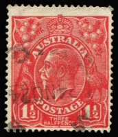 Lot 310:1½d Red Die I BW #89(16)h