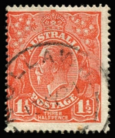 Lot 281:1½d Scarlet-Orange BW #89J