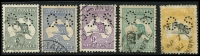 Lot 67 [2 of 2]:'OS' Group 2d to 5/-, good used, Cat $1,995. (6)