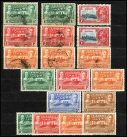 Lot 1335 [2 of 2]:1890s to 1970s with duplication, odd earlier, noted KGV Seal to 4d with ½d imprint block of 8 P13x12, 1939 Tercentenary mint set x2. Plenty of sorting here. (100s)
