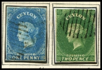 Lot 1389 [2 of 3]:1857-70 Chalons neatly mounted group, some SG numbers are not correct, 1/- imperf (cat £200) seem good. Handy group of generally attractive stamps. (17)