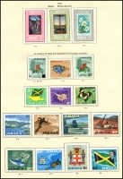 Lot 935 [5 of 6]:British Commonwealth QEII group on album pages with Guyana, 1968 Christmas to 1972 Christmas, Jamaica 1969 Coin Centenary to 1972 10th Anniversary, New Hebrides 1965 ITU to 1972 Christmas + 1975 10f Bull, Maldive Islands 1961 Coconuts to 1965 Quiet Sun, Malta 1958 Tchnical Education to 1972 Christmas, Montserrat 1963 Freedom from Hunger to 1972 Christmas. Nearly complete fresh mint. (100s)