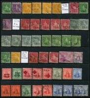 Lot 937 [2 of 9]:British West Indies mainly used duplicates Barbados ½d & 1d Small Seal and 1d QV, Bermuda 1865-1903 QV to 6d, 1910-25 Ship to 6d, 6d mint Tercentenary, Jubilee to 2½d, 1936-47 Pictorials, ½d to 1/6d, Jamaica 1919-21 Pictorials 1d to 1/-, good range of pmks, Trinidad 1863-80 P12½ (1d) to 1/- (incl Wmk reversed (1d), 6d & 1/- mauve) also P14 (1d) to 1/- and a few Trinidad & Tobago issues. Plenty to sort through here. (100s)