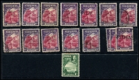 Lot 937 [3 of 9]:British West Indies mainly used duplicates Barbados ½d & 1d Small Seal and 1d QV, Bermuda 1865-1903 QV to 6d, 1910-25 Ship to 6d, 6d mint Tercentenary, Jubilee to 2½d, 1936-47 Pictorials, ½d to 1/6d, Jamaica 1919-21 Pictorials 1d to 1/-, good range of pmks, Trinidad 1863-80 P12½ (1d) to 1/- (incl Wmk reversed (1d), 6d & 1/- mauve) also P14 (1d) to 1/- and a few Trinidad & Tobago issues. Plenty to sort through here. (100s)