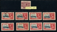 Lot 937 [6 of 9]:British West Indies mainly used duplicates Barbados ½d & 1d Small Seal and 1d QV, Bermuda 1865-1903 QV to 6d, 1910-25 Ship to 6d, 6d mint Tercentenary, Jubilee to 2½d, 1936-47 Pictorials, ½d to 1/6d, Jamaica 1919-21 Pictorials 1d to 1/-, good range of pmks, Trinidad 1863-80 P12½ (1d) to 1/- (incl Wmk reversed (1d), 6d & 1/- mauve) also P14 (1d) to 1/- and a few Trinidad & Tobago issues. Plenty to sort through here. (100s)