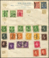 Lot 963 [3 of 6]:World with schoolboy collection, plus world A-E, Commonwealth Collection in special binder and Album (not complete), New Zealand Campbell Paterson Album pages with some stamps, some mint modern Asia, various Olympics issues with strength in soccer. c.7.5kg (1,000s)