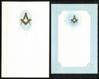 Lot 1041 [2 of 6]:Masonic Sample Cards: in special album produced by Bay Series, most cards in place with only a few being removed, plus a few Buffalo and OES samples. (39)