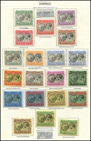 Lot 1404:1923-33 nicely mounted mint group with ½d to 5/- (incl shades), SG #72-90 range. (20)