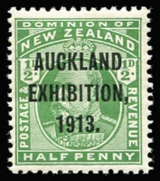 Lot 1780 [4 of 4]:1913 Auckland Exhibition complete set, SG #412-15, MUH, Cat £300. (4)