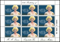 Lot 990 [1 of 5]:1980 Queen Mother's 80th Birthday: sheetlets of 9, Ascension x5, Bermuda x5, Cayman Islands x5, Gibraltar x5, Pictairn Islands x5, St Helena x5, Samoa x15, Solomon Islands x5, The Gambia x5 & Tristan da Cunha x5. (60 items)