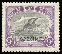 Lot 1309 [2 of 2]:1932 New Values 9d & 1/3d both optd 'SPECIMEN' SG #127s,128s, hinged, Cat £750. (2)