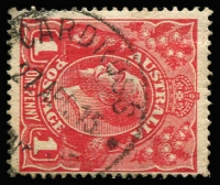 Lot 694:Cardross: 25mm 'CARDROSS/27APR15/[QUEE]NS[LAND]' (LRD) on 1d red KGV. [Rated 4R - second example recorded.]  PO c.-/7/1913; closed c.1920.