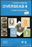Lot 1087:Stanley Gibbons Catalogues: Europe Vols 1-3 (1972), Overseas Vols 1 (1973), 2 (1974), 3 (1974) & 4 (1978). Good condition. 5.3kg (7)