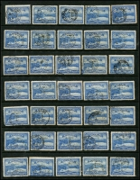 Lot 722 [3 of 5]:Pictorials Group with 3d x35 (perf 'T' x6), 4d x30 (perf 'OS' x1, perf 'T' x13), 5d perf 'T' x35 & 6d x35 (perf 'T' x5). Plus mint 2½d (toned), 4d & 6d. A handy group with several printings and shades. (138)