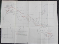 Lot 1219 [2 of 2]:Government Reports: Annual Electric Telegraph Reports with three fine maps, for 1865 and 1866. (2)