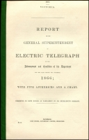 Lot 1219 [1 of 2]:Government Reports: Annual Electric Telegraph Reports with three fine maps, for 1865 and 1866. (2)