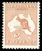 Lot 21:5d Chestnut BW #16, off centre, Cat $225.