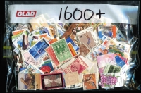 Lot 358:1,600-All Different fine used, including some internationals and earlier issues.