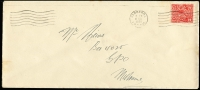 Lot 302 [1 of 3]:1d Green & 2d Red 'OS' 1d perf 'OS' x2 & ovpt 'OS' on Melbourne Criminal IB covers, plus 2d perf 'OS' on House of Representatives cover & ovpt 'OS' on Public Service Arbitrator cover, BW #82(OS),103(OS), Cat $140+, a bit spotty. (5)