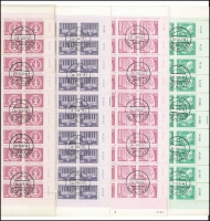 Lot 1188 [1 of 2]:1980-81 Small Definitives set of 15 in complete sheets of 100, CTO (BERLIN ZPF cds) with full gum. (1,500)