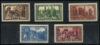 Lot 2256 [1 of 2]:1950 National Relief Fund 8f+2f to 50f+20f set Mi #299-303.