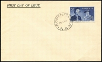 Lot 708:Swanston 1960 5d Girl Guides on generic unaddressed FDC with 'BOWENFELLS/NSW' cds. Retail $185+.