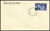 Lot 861:Swanston 1960 5d Girl Guides on generic unaddressed FDC with 'BOWENFELLS/NSW' cds. Retail $185+.