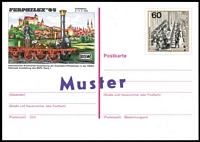 Lot 1351 [2 of 6]:West Germany & Berlin 1960s-2000 collection in 50 page stockbook of stamps, M/Ss, blocks, 2 stamp booklets, 6 postal stationery items, all overprinted 'Muster' (Specimen) in varying sizes with serifs & sans-serifs plus 5 presentation folders (signed by postal ministers and not optd). Very scarce and difficult to assemble. (1,020+)