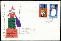 Lot 469 [1 of 3]:1966-79 Collection incl 1974 Christmas with Collegiate Church handstamp and signed by the Vicar, 1975 Architecture with Wilton House handstamp, many other commem cancels. STC approx £500. (50+)