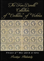 Lot 212 [2 of 2]:Australian Colonies - Victoria: 'The Ken Barelli Collection of Emblems of Victoria', Prestige Philately (2014) with p/r; 'Ken Barelli Collections of Classic Victoria', Millennium Auctions, (2006) without p/r. (2)