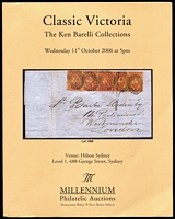 Lot 212 [1 of 2]:Australian Colonies - Victoria: 'The Ken Barelli Collection of Emblems of Victoria', Prestige Philately (2014) with p/r; 'Ken Barelli Collections of Classic Victoria', Millennium Auctions, (2006) without p/r. (2)