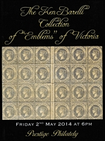Lot 215:Australian Colonies - Victoria: 'The Ken Barelli Collection of Emblems of Victoria' Prestige Boronia 2014 (2 May), 74pp, hardbound edition & p/r.