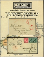 Lot 218 [2 of 2]:Bermuda: 'The G. Osborn Collection of Bermuda' Cavendish, Derby in 2009 (28 Jan), 48pp, paperback, no p/r. Also 'Stamps of Bermuda - Dr. The Hon. David J. Saul Collection' Spink London 96pp, 2013 (22 Oct), paperback & p/r. (2)