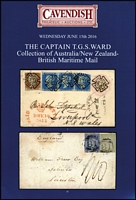 Lot 219:Maritime Mail: 'The Captain T. G. S. Ward Collection of Australia/New Zealand British Maritime Mail' Cavendish Derby 2015 (15 Jun) 54pp, paperback & p/r.