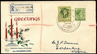 Lot 82:1960 Congress of Scientific Management, Melbourne registered use with Congress of Scientific Management special cachet, provisional label '020', (APM1422- APM states 31 registered covers serviced).