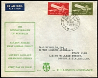 Lot 873 [3 of 5]:The London Assurance matching address selection incl Perth Games with Games pict cds, Royal Visit & Guillaux, also 1962 & 1964 Christmas FDC all neatly addressed to London. (5)