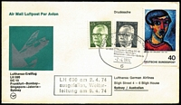Lot 406 [2 of 7]:1967-82 Lufthansa FFCs to and from Australia incl scarce intermediates. (20)